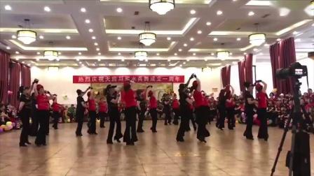 川军雅安水兵舞团表演陶然水兵舞第十五套《彩云之南》