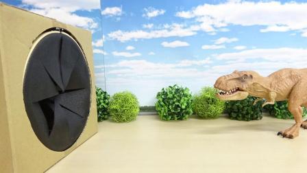 恐龙走进盒子大霸王龙摩萨苏鲁侏罗纪世界玩具