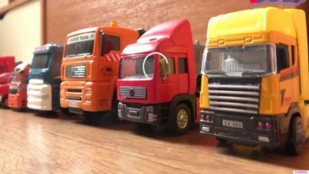 挖掘机 吊车 货车 工程车 汽车玩具亲子早教 宝宝教育视频