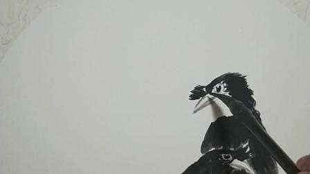 小品八哥枇杷果作者蔡偉良