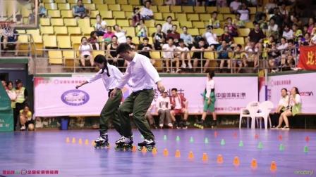 2019.7.27 丽水全国轮滑锦标赛 双人花桩 5th 郑艺飞 菲致