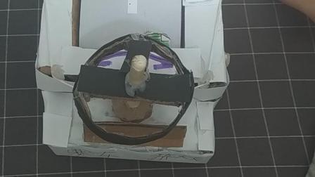 纸板制作游戏机,章鱼群的小作品,