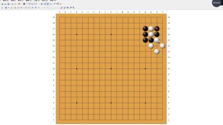 J老师的围棋网络课堂 围棋教学 定式教学 点三三被人家连扳该怎么办