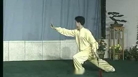42式太极剑1-11 李德印 陈思坦 背向演示