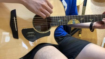 詹尼M33孔雀开屏吉他评测试听 超歌吉他