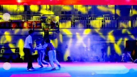 库尔勒飞翔跆拳道俱乐部2019年新疆维吾尔自治区跆拳道联赛决战庭州王者之战娜则莱 VS李欣月【第二局】