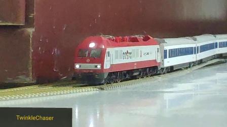 [火车模型]领略直特之光!末代韶山光辉犹在!SS9G高速飙车
