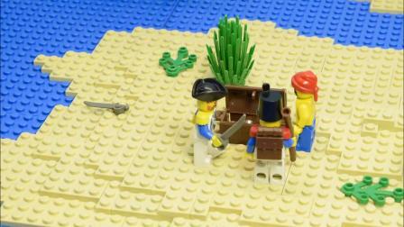 乐高积木玩具 海盗 6251 海盗人仔 定格动画