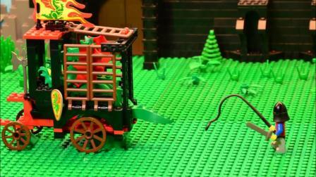 乐高积木玩具 城堡 6056 运龙车 定格动画