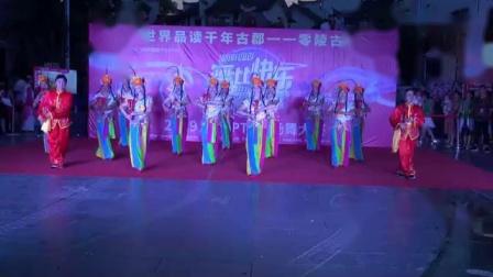 湖南永州友爱广场电信节演出舞蹈中国脊梁
