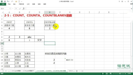 2-5:COUNT COUNTA COUNTBLANKV函数.wmv