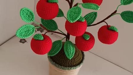 卜卜·编织  苹果盆景
