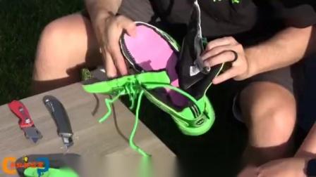 被NBA禁用的14000元篮球鞋,里面到底有啥?老外暴力切开一探究竟