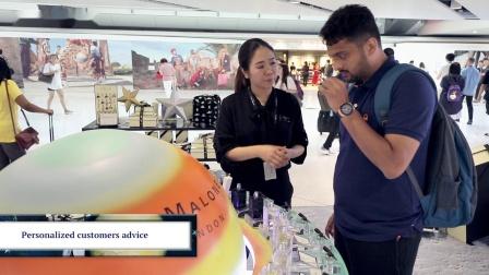 香港国际机场广告参考: Jo Malone互动体验区