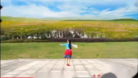 滨江夕阳好舞伴雨夜广场舞《等着我来爱》 背面