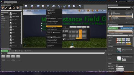 UE4可互动碰撞的草地工程文件的用法教学