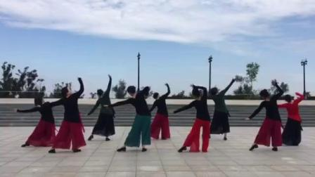 哈尔滨市金色阳光广场舞《为你祈祷》团队表演-录制-王金丽