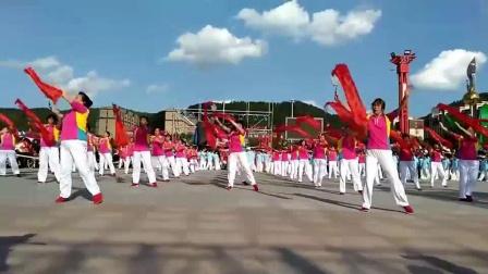 抚松县柔力球协会展示《五星红旗》表演-_高清_clip
