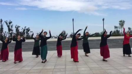 哈尔滨市金色阳光广场舞《秋水伊人》团队表演-录制-王金丽