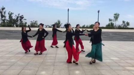 哈尔滨市金色阳光广场舞-双人表演《伦巴绽放》录制-王金丽