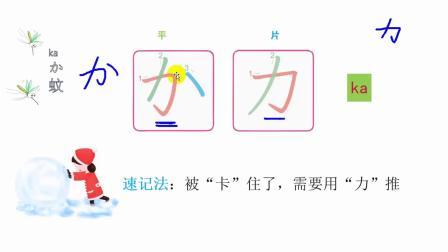 日语五十音图另类搞笑记忆法