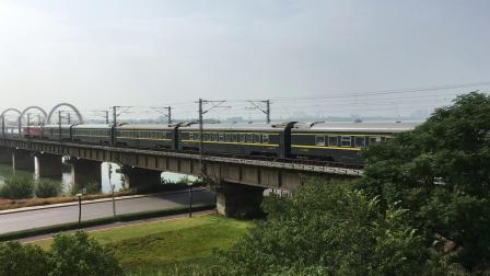 京九线!Z385 长春-三亚 限速通过八里湖大桥