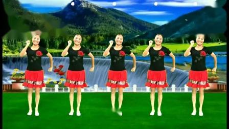 兰兰广场舞《情路弯弯》原创16步附教学:吉特巴舞典点步
