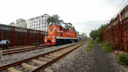 火车   df7 6069单机进焦作北站