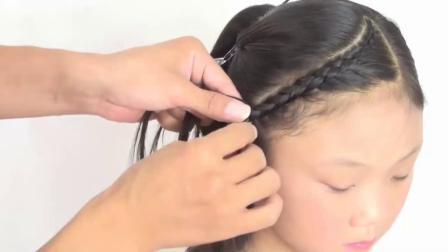 孩子们的头发,小蝎子辫子,弧形刘海,老师,头发。