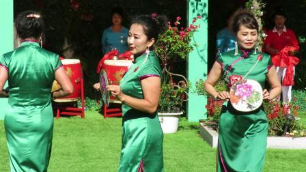 庆祝新中国建国70周年套外村广场舞联谊会之太平湾快乐舞蹈队旗袍秀《水乡新娘》片段