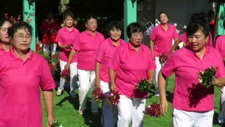 庆祝新中国建国70周年套外村广场舞联谊会之马家晨飞霞舞蹈队健身舞蹈《一晃就老了》片段