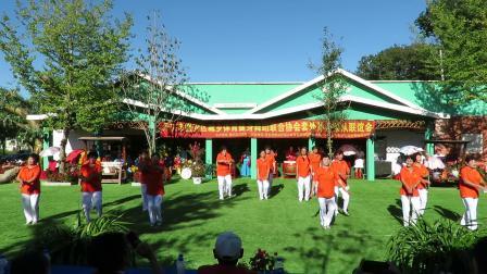 庆祝新中国建国70周年套外村广场舞联谊会之马市一家亲健身队健身舞蹈《天南地北唱中华》片段