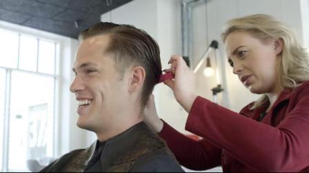 男士发型的经典梳子-一种随意的商务理发