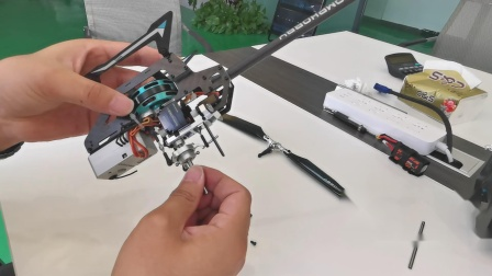 朗宇OMPHOBBY M2 3D直升机主轴更换教程