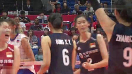 2019女排世界杯中国-俄罗斯精彩片段(朱婷22分)
