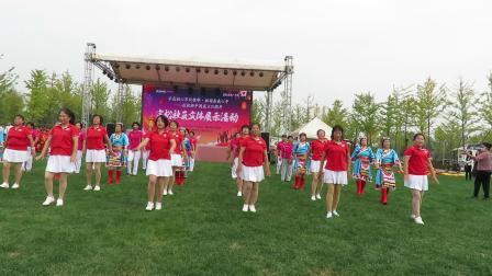 不忘初心牢记使命文体展示之宗裕A区广场舞队表演的广场舞《敬祝毛主席万寿无疆》片段