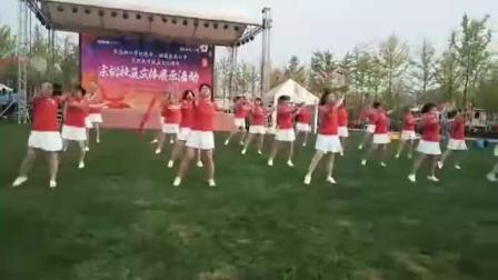 不忘初心牢记使命.祖国在我心中文体展示老体协柔力球队表演的柔力球《阳光年华》片段