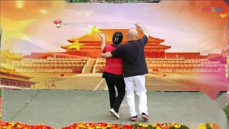 国庆70周年空竹双人展示