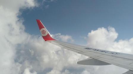 福州航空波音737-800飞机起飞穿云