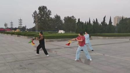 潍坊滨海拳友演练陈太极刀36式
