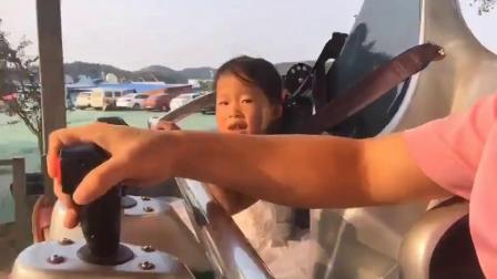 国庆父女俩游玩仙盖山