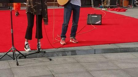雷震&小月亮  吉他弹唱  周杰伦《说好不哭》