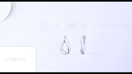 珠宝设计手绘课程 耳钉画法