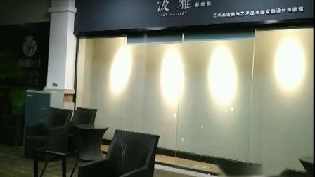 重庆电动卷帘窗帘视频-实拍于重庆渝北颐和高尔夫