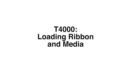 普印力自动识别 T4000 热转式标签打印机- 安装纸张与耗材