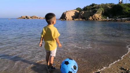 七月的东褚岛太美了,老友米拖挂玩儿海亲子游