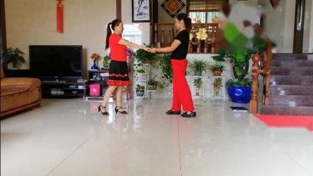 安吉陈氏农庄广场健身舞(拉萨夜雨)双人水兵舞