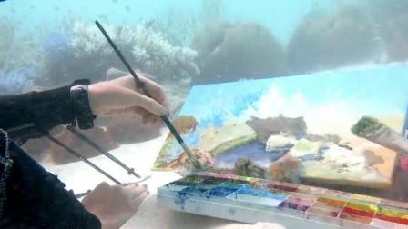 Olga Belka水中画家,2019.11.21-24深圳国际艺术博览会画展
