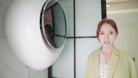 小吉壁挂洗衣机,水滴外观极具科技感,多种洗衣模式更贴心