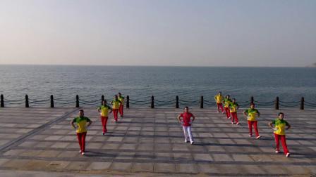 烟台丽影操舞,健身操组合版,步子舞(52)步歌曲,还在草原等你,